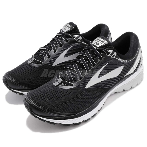 95eb1b4a329 Brooks Ghost 10 Black Silver Running Shoes Sneaker